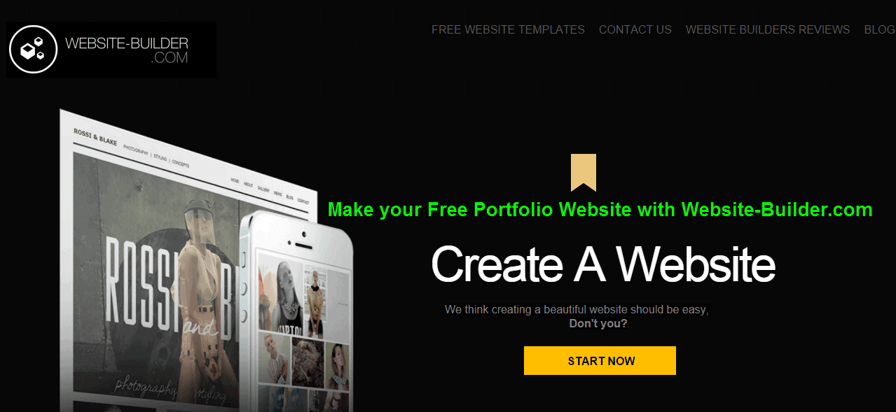 Make your Free Portfolio Website with Website-Builder.com - G7Tec